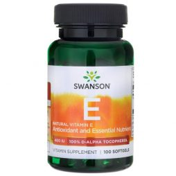 Natural Vitamin E 400 iu 100 softgels