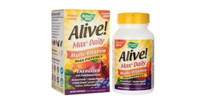 Alive Max 6 Potency No Iron added 90 capsules