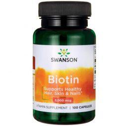 Swanson Biotin 5 mg 100 caps