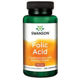 Swanson Folic Acid 800 mg 250 caps