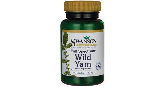 Swanson Wild Yam 400 mg 60 capsules