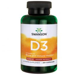 Vitamin D-3 High Potency 2000 IU 250 caps