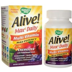 Alive Max 6 Potency with Iron 90 vcaps Multivitamin