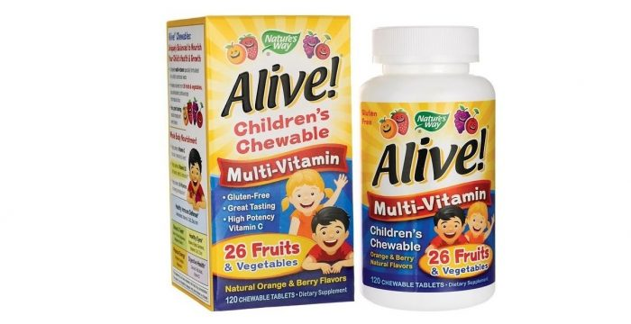 Alive Children's Multivitamin Orange and Berry Flavor 120 chewables