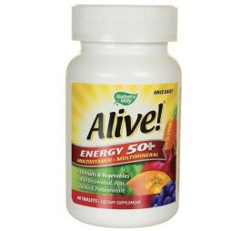 Alive Energy 50+ Multivitamin Multimineral 60 tabs