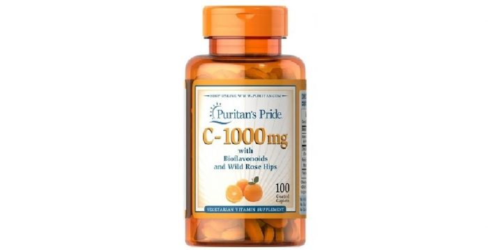 Vitamin C with Bioflavonoids and Rosehips 1000 mg 100 caplets