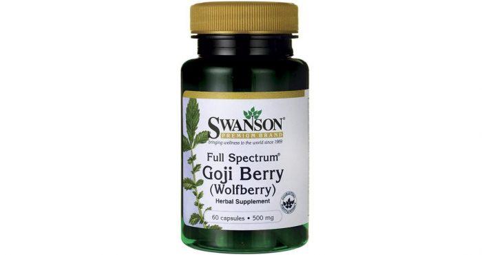 Swanson Goji Berry Wolfberry 500 mg 60 caps