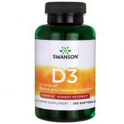 High Potency Vitamin D-3 5000IU 250 softgels