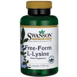 Swanson L-lysine Free form 500 mg 100 caps