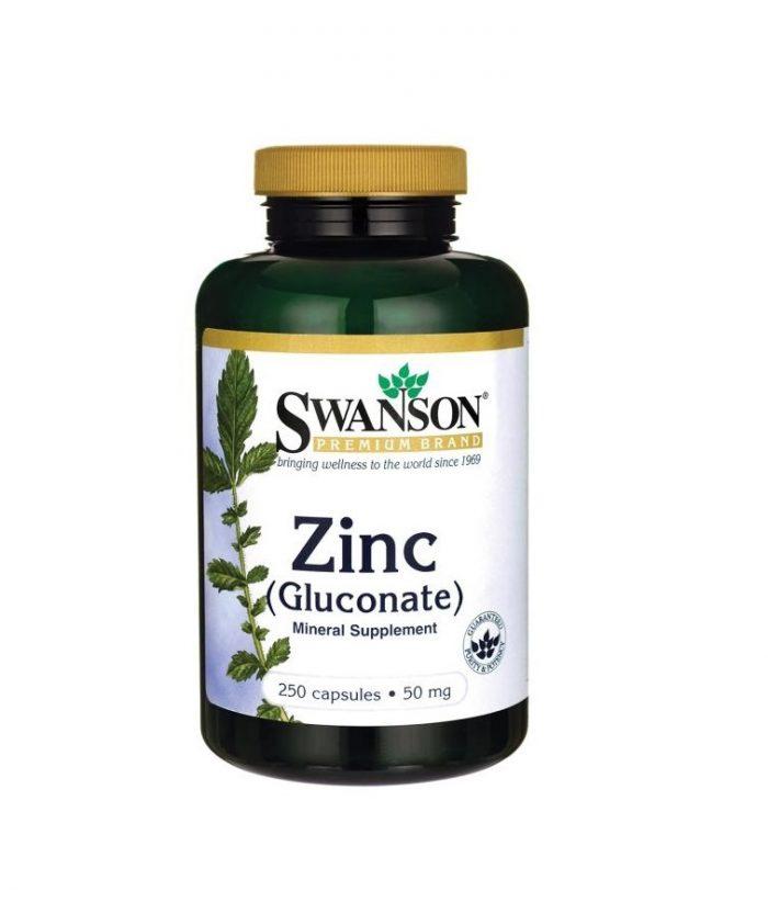 Swanson Zinc Gluconate 50 mg 250 capsules