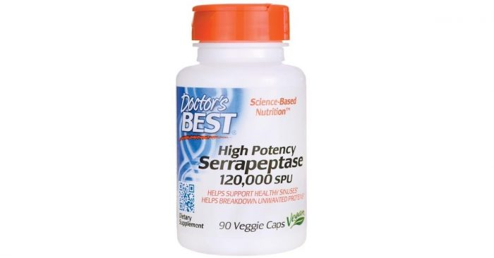 Dr. Best High Potency Serrapeptase 90 vcaps