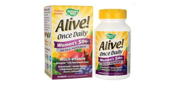Alive Once Daily Women's 50+ Ultra Potency 60 tabs