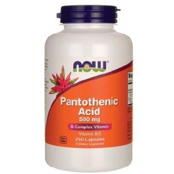 Now Pantothenic Acid 500 mg 250 caps