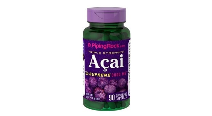 Piping Rock Triple Strength Acai 3000 mg 90 caps