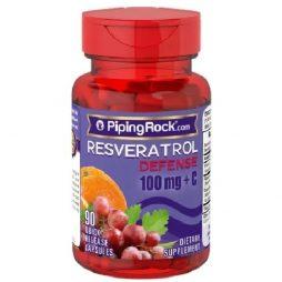 Resveratrol with Vitamin C 100 mg 90 caps