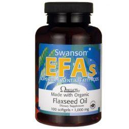 Swanson Organic Flaxseed Oil 1000 mg 100 softgels