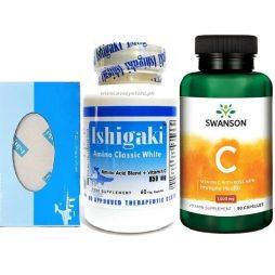 Ishigaki Amino Classic White with Vitamin C rosehips and Ishigaki Soap