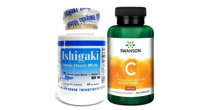 Ishigaki Amino Classic White and Vitamin C with Rosehips 1000 mg