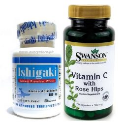 Ishigaki Amino Premium White with Vitamin C Rosehips 500 mg
