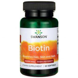 Swanson Biotin 10,000 mcg 60 capsules