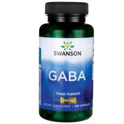 Swanson Gaba 500 mg 100 capsules