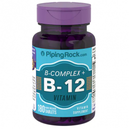 Piping Rock B-Complex with B-12 180 tablets