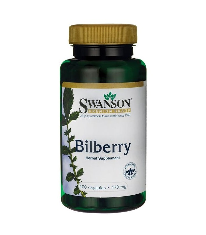 Bilberry Fruit 470 mg 100 capsules