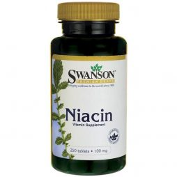 Niacin 100 mg 250 tablets