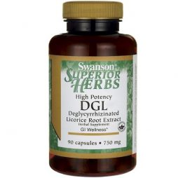 High Potency DGL (Licorice) 750 mg 90 capsules