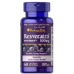 Resveratrol 100 mg 60 softgels | Puritan's Pride