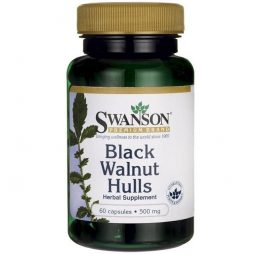 Black Wallnut Hulls 500 mg 60 caps