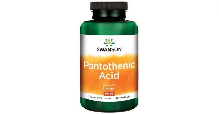 Pantothenic Acid 500 mg 250 caps