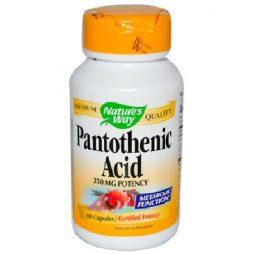 Pantothenic 250 mg 100 capsules