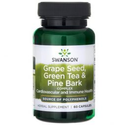 Swanson Grape Seed, Green Tea and Pine Bark Complex 60 caps