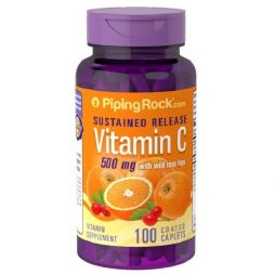 Vitamin C with Rosehips Timed Release 500mg 100 tablets