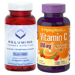 Relumins and Vitamin C Rosehips 500mg 100 caps
