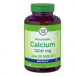 Calcium 1200mg with Vitamin D 5000iu 100 softgels