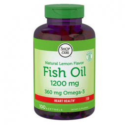 Fish Oil Lemon Flavor 1200 mg 100 softgels