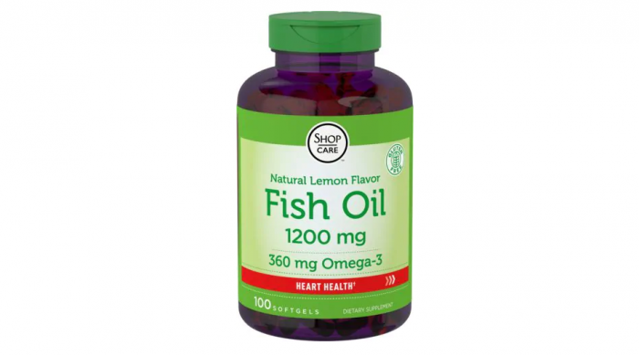 Fish Oil Lemon Flavor 1200 mg 100 softgels
