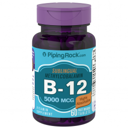 Methylcobalamin B-12 5000 mcg 60 fast issolve tablets
