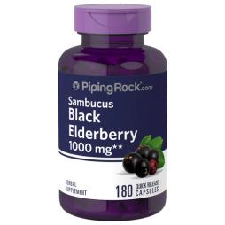 Elderberry Sambucus 1000 mg 180 Capsules